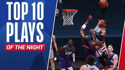 Top 10: As melhores jogadas desta terça na NBA