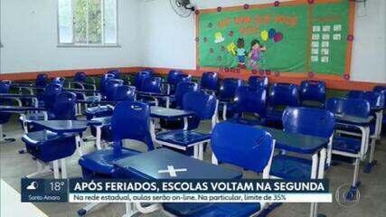 Após feriado, escolas públicas e particulares voltam às aulas ainda na fase emergencial