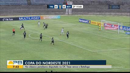 Treze 1 x 0 Botafogo-PB, pela rodada #5 da Copa do Nordeste