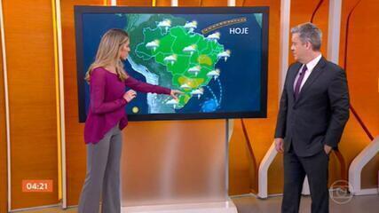 Previsão é de chuva forte no Sul do país nesta segunda-feira