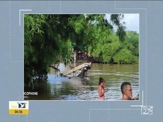 Autoridades falam sobre situação da ponte em Bacabal