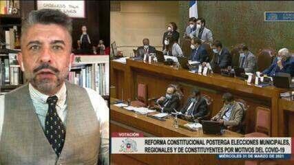 Senado do Chile adia eleições para os dias 15 e 16 de maio