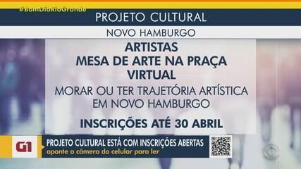 Inscrições abertas para projeto cultural em Novo Hamburgo