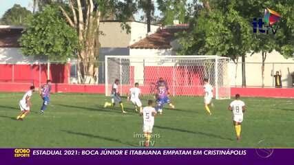Boca Júnior e Itabaiana empatam em Cristinápolis
