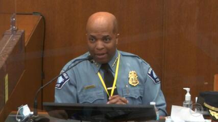 Júri ouve chefe da polícia no 6º dia de julgamento do ex-policial acusado de matar George Floyd