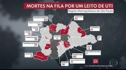 Ao menos 555 pessoas com Covid morreram à espera de um leito de UTI desde o início de março no estado de SP