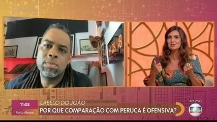 Manoel Soares e Fátima Bernardes comentam comparação que Rodolffo fez com cabelo de João