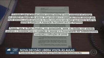 Justiça derruba liminar e determina volta às aulas no Rio; escolas podem abrir imediatamente, diz secretaria