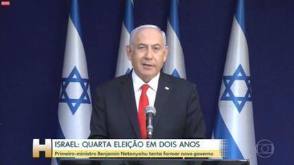 Primeiro-ministro de Israel Benjamin Netanyahu recebeu sinal verde do presidente para tentar formar um novo governo