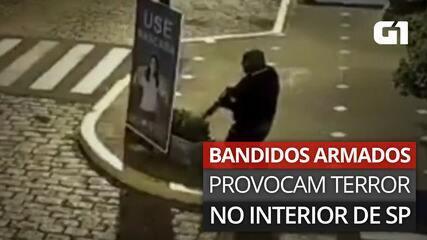 VÍDEO: Imagens mostram bandidos em ruas de Mococa, SP