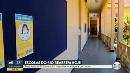 Escolas reabrem nesta quarta-feira no Rio