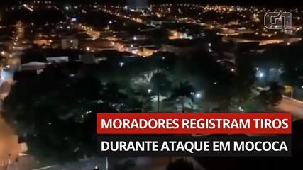 VÍDEO: Moradores registram tiros durante ataque em Mococa, SP