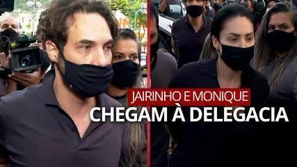 Henry Borel: Dr. Jairinho e Monique chegam na delegacia após prisão