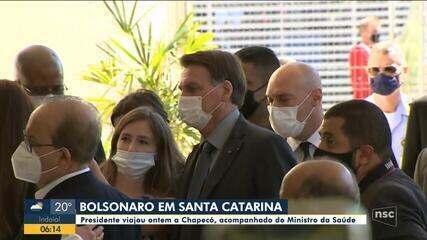 Presidente visita Chapecó e fala sobre a pandemia