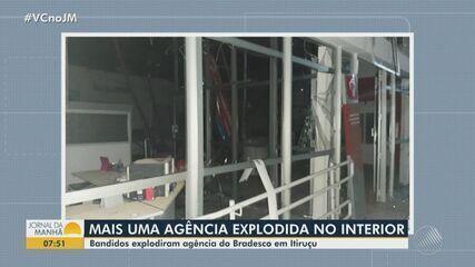Agência bancária é explodida no município de Itiruçu, no sudoeste da Bahia