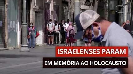 VÍDEO: israelenses param em memória ao Holocausto