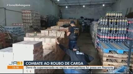Dono de supermercado é preso em flagrante suspeito de roubo de carga em Goiás