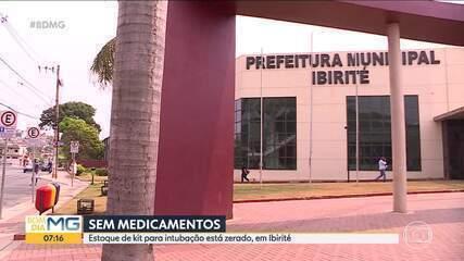 Falta insumo em hospital de campanha de Ibirité, na Grande BH