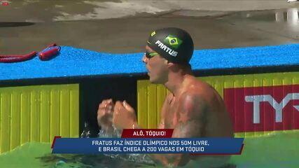 Correspondente Guilherme Roseguini fala sobre o índice olímpico de Bruno Fratus