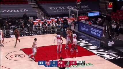 Melhores Momentos: Portland Trail Blazers 118 x 103 Detroit Pistons pela NBA