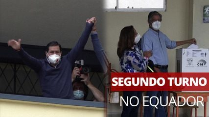 I candidati votano al secondo turno delle elezioni presidenziali in Ecuador