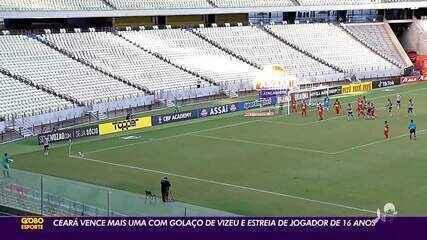 Ceará vence Salgueiro com golaço de Vizeu e estreia de jogador de 16 anos