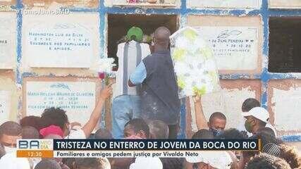 Jovem que foi morto durante ataque na Boca do Rio é enterrado em Salvador