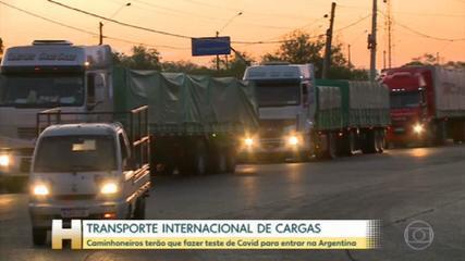 A Argentina passou a exigir o teste PCR negativo para Covid para caminhoneiros de outros países entrarem no país