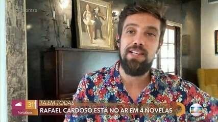 Rafael Cardoso vive momento inusitado: está no ar em quatro novelas na Globo