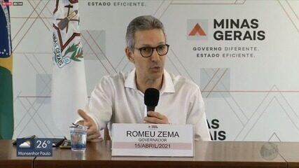 Governador de Minas, Romeu Zema informa que parte do estado avança para a onda vermelha