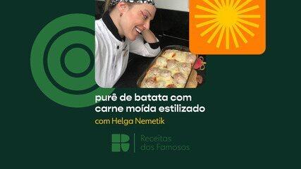 Helga Nemetik ensina a fazer um purê de batata com carne moída estilizado