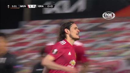 Os gols de Manchester United 2 x 0 Granada, pela Liga Europa