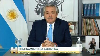 Novas medidas de restrição na Argentina