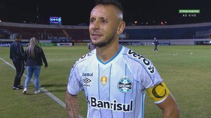 Rafinha analisa empate sem gols contra o Caxias na saída do jogo