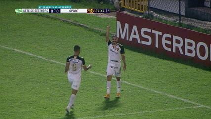 Gol do Sport! Thiago Lopes marca contra o Sete de Setembro