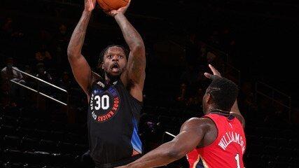 Melhores momentos: New York Knicks 122 x 112 New Orleans Pelicans pela NBA