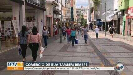Fase de transição: veja como foi o 1° dia de reabertura do comércio de rua em Campinas