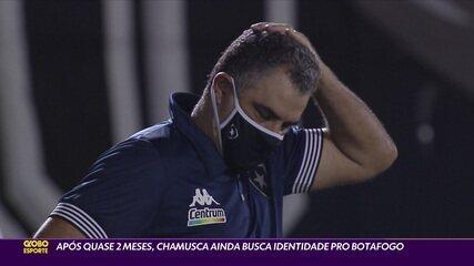 Após quase dois meses, Chamusca ainda busca identidade para o Botafogo
