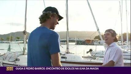 Gustavo Kuerten e Pedro Barros: encontro de ídolos na Ilha da Magia