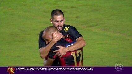 Em boa fase, Thiago Lopes vai reencontrar Umberto Louzer no Sport
