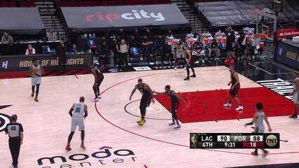 Melhores Momentos: Los Angeles Clippers 113 x 112 Portland Trail Blazers pela NBA