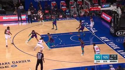 Melhores Momentos: New York Knicks 109 x 97 Charlotte Hornets pela NBA