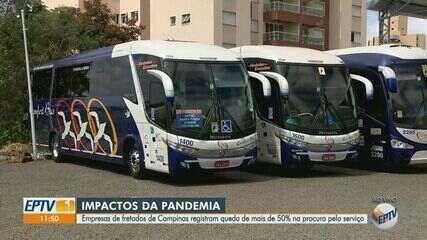Empresas de transporte fretado registram queda de 50% em Campinas