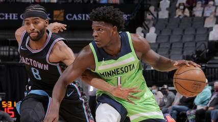 Melhores momentos: Sacramento Kings 128 x 125 Minnesota Timberwolves pela NBA