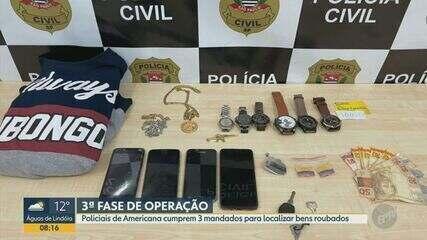 Policiais da DIG cumprem 3 mandados para localizar bens roubados em Americana