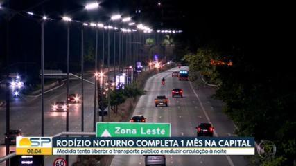 Rodízio noturno completa 1 mês na capital