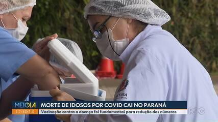 Após vacinação, número de mortes de idosos por Covid cai no Paraná