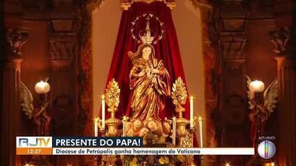 Imagem de santa na Diocese de Petrópolis recebe homenagem do Vaticano