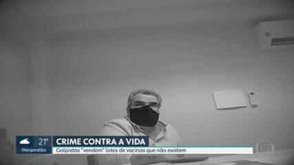 Golpistas ofereciam vacinas que não existem, diz polícia