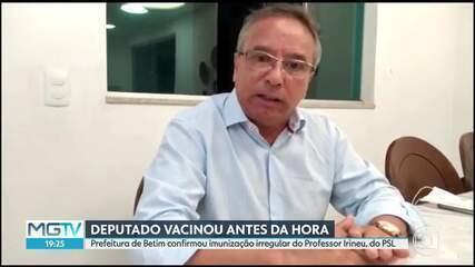 Prefeitura de Betim confirma vacinação irregular de deputado